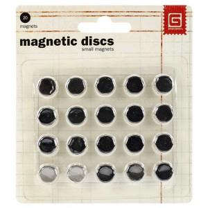 BasicGrey Small Magnetic Discs