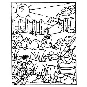 Carolee Jones Cling Mount Stamp - Springtime Scene AGC1-1064