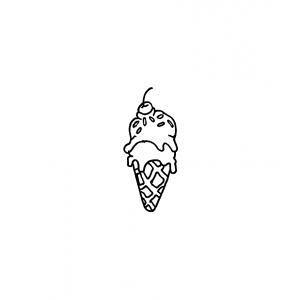 Carolee Jones Wood Mounted Stamp - Little Ice Cream D7-1094