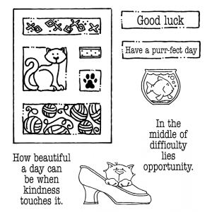Carolee Jones Clear Stamps: Good Luck Tiny Cutts SC-2536