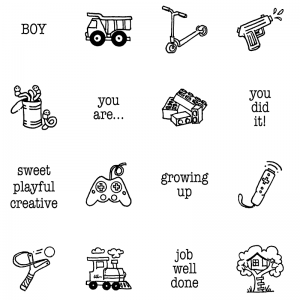 Carolee Jones Clear Stamps: Boy's Little Pics SC-2541