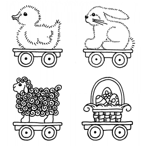 Darby New Cling Mount Set - Easter Parade M-1589