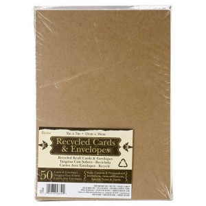 "Darice A7 5"" x 7"" Kraft Cards and Envelopes - 1210-82"