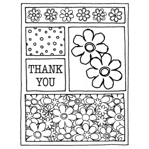 J. Clare Cling Mount Stamp - Flowers Mini Frame AGC2-825