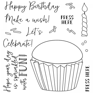 Nicole Tamarin Clear Stamp Set - Birthday Cupcake NTSCS-001