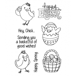 Nicole Tamarin Clear Stamp Set - Spring Chicks NTMCS-011