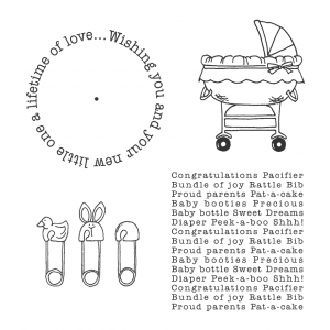 Carolee Jones Wheel Cling Stamp Set - Baby ASCS-001