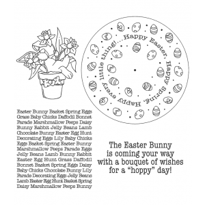 Carolee Jones Wheel Cling Stamp Set - Easter ASCS-005