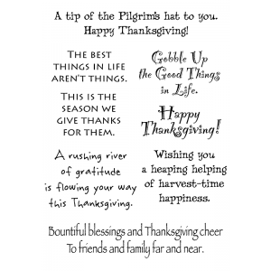 Words to the Rescue Clear Stamps - Thanksgiving SFC010