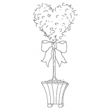 Michelle Masters Cling Mount Stamp - Heart AGC1-2646