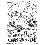 Joanne Sharpe Cling Mount Stamp - Christmas Star AGC2-2471