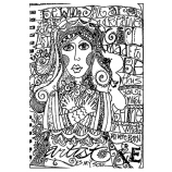 Joanne Sharpe Cling Mount Stamp - Art Girl Journalings AGC3-2492