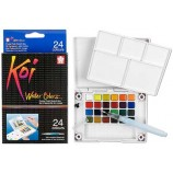 Koi 24 Color Water Colors Set, XNCW-24N