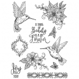 Nicole Tamarin Cling Mount Stamp Set - Hummingbirds NT-020