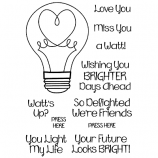 Nicole Tamarin Clear Stamp Set - Love Bulb NTMCS-002