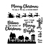 Clear Stamp Set - Santa's Sleigh ASSCS-001