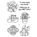 Nicole Tamarin Clear Stamp Set - Happy Easter Bunnies NTMCS-010