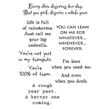 Words to the Rescue Clear Stamps - Encouragement SFC003