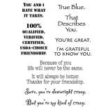 Words to the Rescue Clear Stamps - Friendship 2 SFC017