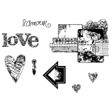 Suzanne Carillo Cling Mount Stamp Sets - Crave Love BZ006