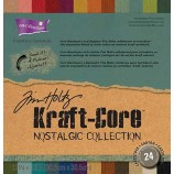 color numbers assigned to each paper, and that is simply because this nostalgic collection of kraft core doesn't match any of ranger's inks specifically,