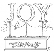 Michelle Masters Cling Mount Stamp - Joy AGC1-2628