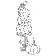 Michelle Masters Cling Mount Stamp - Topiary and Crow AGC1-2629