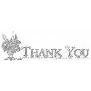 Michelle Masters Cling Mount Stamp - Thank You with Urn AGC1-2687
