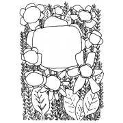 Catherine Scanlon Cling Mount Stamp - Flower Frame 2 AGC3-2731