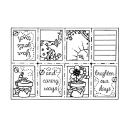 Carolee Jones Cling Mount Stamp: Brighten Our Days Book RX3-1070