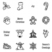 Carolee Jones Clear Stamps: Holiday Little Pics SC-2459