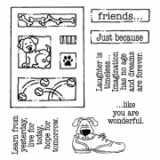 Carolee Jones Clear Stamps: Friends Tiny Cutts SC-2534