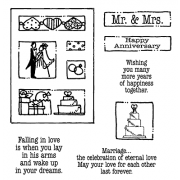 Carolee Jones Clear Stamps: Marriage Tiny Cutts SC-2538