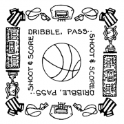 Carolee Jones Simple Squares - Basketball SC-2582