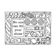 Carolee Jones Cling Mount Stamp: Tie Frame RX3-2087