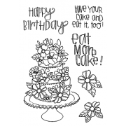 Catherine Scanlon Clear Stamp Set - Birthday Cake MC-2781