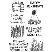Catherine Scanlon Clear Stamp Set - Birthday Laughs #2 MC-2837