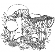 Catherine Scanlon Cling Mount Stamp - Fungus Amongus 4 AGC3-2786
