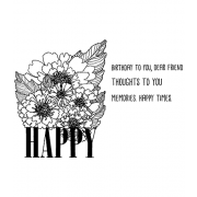 Catherine Scanlon Cling Mount Stamp Set - Happy CSCS-2840