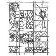 Catherine Scanlon Cling Mount Stamp - Small Nature Grid AGC1-2707