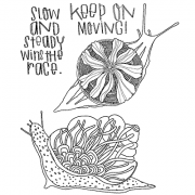 Catherine Scanlon Cling Mount Stamp Set - Slow Snails CSCS-2811