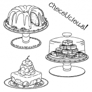 Clear Stamps - Chocolicious SC-2465