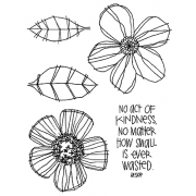 Catherine Scanlon Cling Mount Stamp Set - Whimsical Flowers CSCS-2747