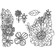 Catherine Scanlon Cling Mount Stamp Set - Blossoms in Bloom CSCS-2750