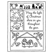 Darby New Cling Mount Stamp - Nativity Mini Frame AGC2-636