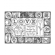 Darby New Cling Mount Stamp: Chocolate Frame RX3-2021
