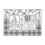 Darby New Cling Mount Stamp: Christmas Frame RX3-1996