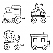 Darby New Cling Mount Set - Zoo Train L-744