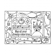 Darby New Cling Mount Stamp: Princess Party Frame RX3-2363