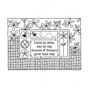 Darby New Cling Mount Stamp: Spring Frame RX3-2086
